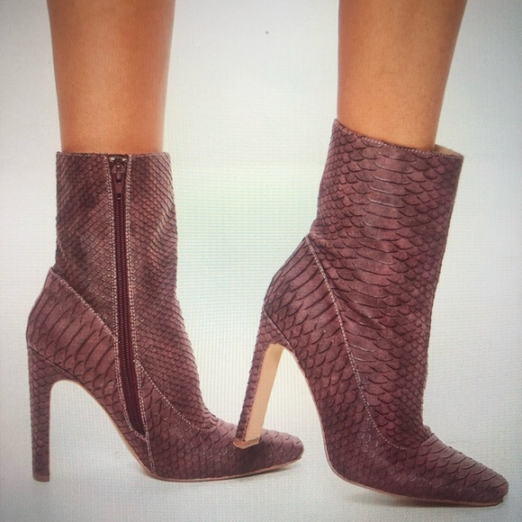 c2a18126b8fa3 Missguided Shoes | Snakeskin Heeled Boots | Poshmark